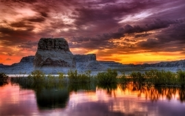 Sunset landscapes nature photography hdr photography reflections wallpaper