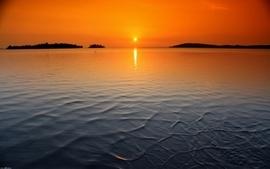 Sunset landscapes nature waterscape wallpaper