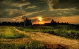 Sunset landscapes roads 2 wallpaper