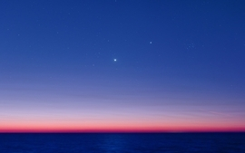 Sunset nature seas stars jupiter venus skyscapes waterscapes wallpaper