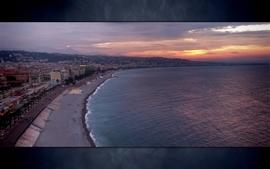 Sunset ocean landscapes nature coast sun seas shore vladstudio wallpaper
