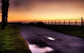 Sunset roads 2 wallpaper