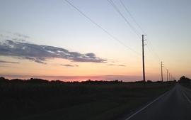 Sunset roads 4 wallpaper