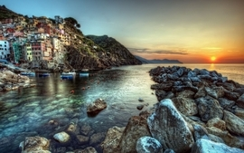Sunset sea photography hdr photography wallpaper