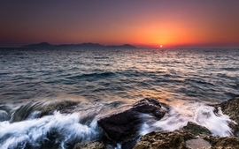 Sunset seascapes wallpaper