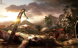 Sunset video games dead island light bloom wallpaper