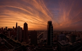 Sunsets cityscapes skyline architecture buildings wallpaper