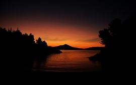 Sunsets mountains landscapes night photography wallpaper
