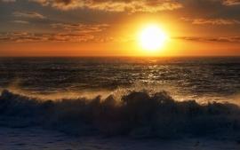 Sunsets ocean landscapes nature sea waves wallpaper