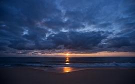 Sunsets sea wallpaper