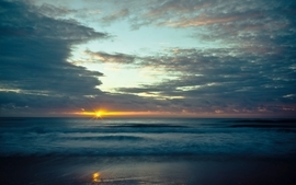 Sunsets seascapes wallpaper