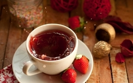 Tea strawberries 3 wallpaper