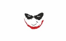 The joker white background minmalism wallpaper