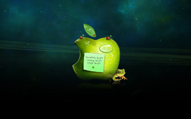 Think Green Apple wallpaper