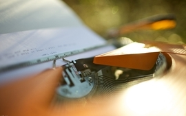 Typewriters depth of field wallpaper