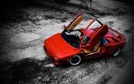 Veronica rayne lamborghini diablo red cars wallpaper