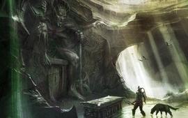 Video games fantasy art dungeons statues concept art artwork wallpaper