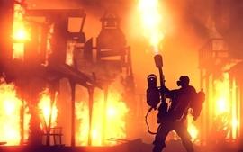 Video games fire team fortress 2 digital art artwork pyro meet wallpaper