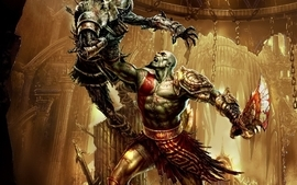 Video games god of war 3 wallpaper