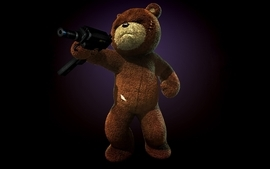 Video games guns teddy bears wallpaper