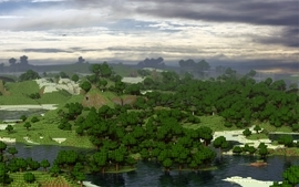 Video games landscapes minecraft digital art block 3d fan art wallpaper