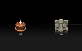 Video games portal cake wallpaper