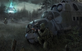 Video games stalker helicopters postapocalyptic artwork vehicles wallpaper