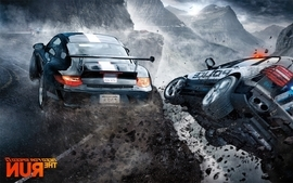 Video games streets cars police cliffs need for speed the run wallpaper