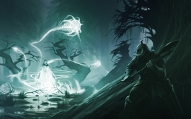 Video games wall fantasy art armor magic axe concept art artwork wallpaper