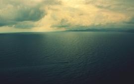 Water clouds landscapes horizon sea calm land rover range rover wallpaper