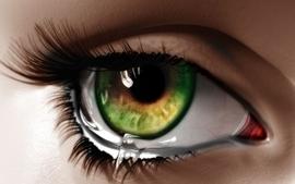 Water eyes green eyes digital art makeup crying wallpaper