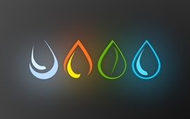 Water fire earth elements air four elements wallpaper