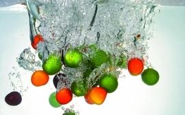 Water fruits wallpaper