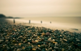 Water landscapes rocks pebbles wallpaper