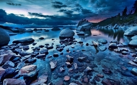 Water landscapes skies wallpaper