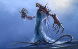 Water monsters demons tentacles creatures artwork wallpaper