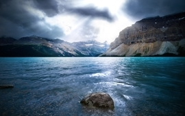 Water mountains clouds landscapes sea lakes wallpaper