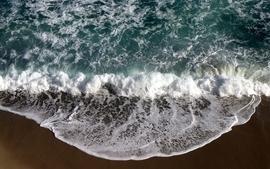 Water ocean beach waves foam morning wallpaper