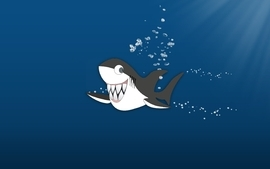 Water ocean seas kids funny sharks digital art wallpaper