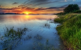 Water sunset landscapes nature wallpaper