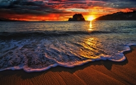 Water sunsets landscapes beach photography hdr photography wallpaper