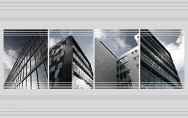 White architecture modern photomanipulations wallpaper