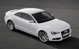 White cars audi wallpaper