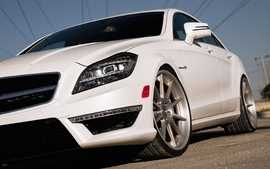 White cars front vehicles supercars tuning wheels racing sport wallpaper