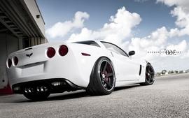 White cars vehicles supercars tuning chevrolet corvette 360 2 wallpaper