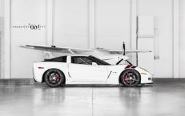 White cars vehicles supercars tuning chevrolet corvette 360 wallpaper