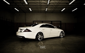 White cars wheels mercedes cls 63 wallpaper