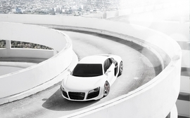 White wheels audi r8 wallpaper