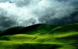 Wind fields turbine wallpaper