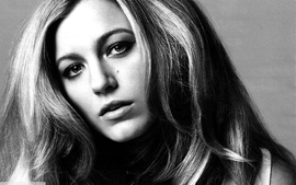 Women actress blake lively grayscale wallpaper